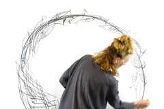 Alison Brown drawing and Fish Wreath