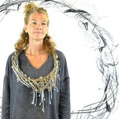Alison Brown_Netted Fish necklace+drawing