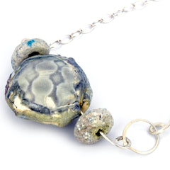 Pebble bead necklace with eco-silver Alison Shelton Brown