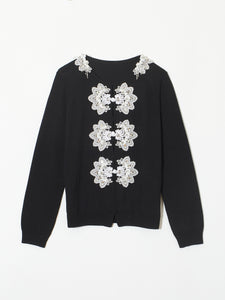 Snow bijou china button cardigan