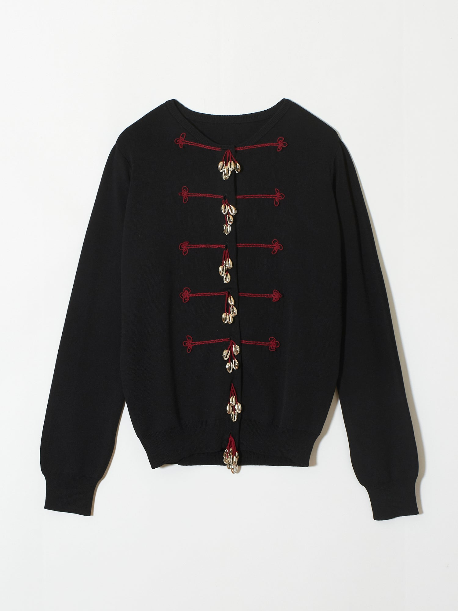 Cowrie shell cardigan