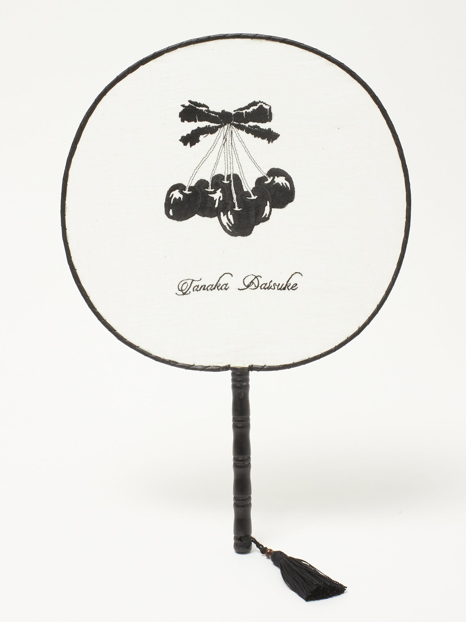 Black cherry cloth fan