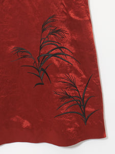SUSUKI grass red dress