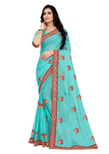 Load image into Gallery viewer, Georgette Silk Saree With Work Blouse Piece