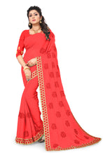 Load image into Gallery viewer, Simmer Silk Saree With Work Blouse Piece