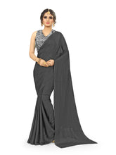 Load image into Gallery viewer, Fancy Silk Saree With Sequence Work Blouse Piece