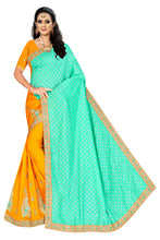Load image into Gallery viewer, Vichitra Foil silk Saree With Work Blouse Piece