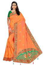 Load image into Gallery viewer, Sanna Silk EMBROIDERY Work Saree With Work Blouse Piece