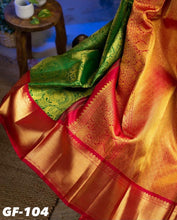 Load image into Gallery viewer, SOFT LICHI SILK CLOTH SAREE WITH BLOUSE PIECE