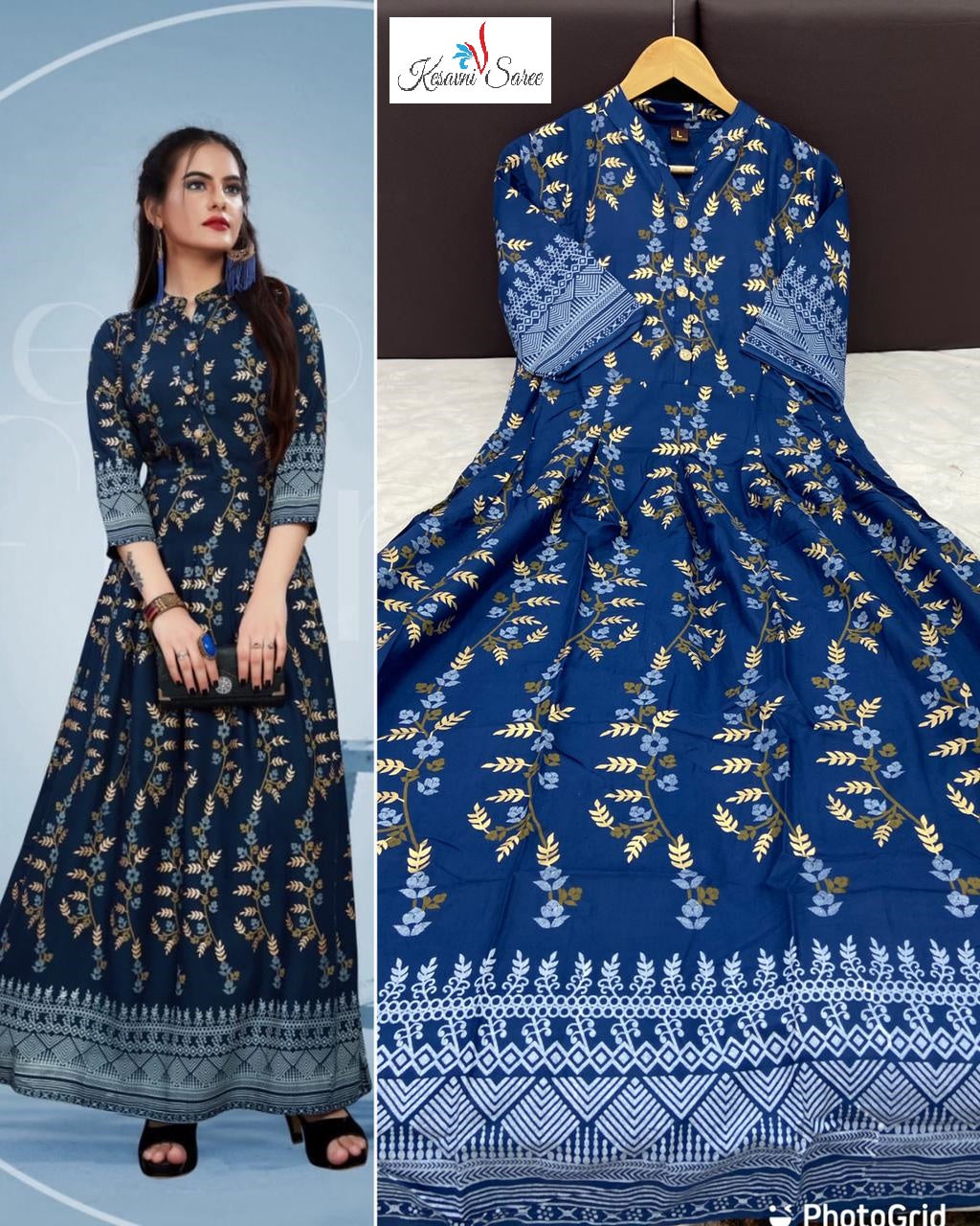SAREEALL PRESENTS TRENDING FOIL PRINT GOWNS