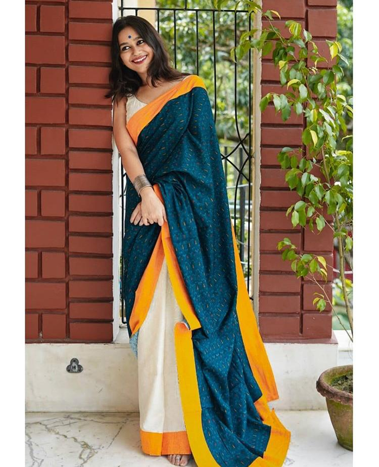SAREEALL PRESENTS LINEN DIGITAL PRINT SAREES