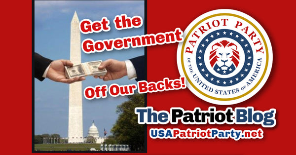 USA patriot party blog get the government off our backs with lion emblem usapatriotparty.net