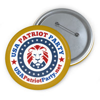 USA Patriot Party Pin Buttons- 3 Sizes