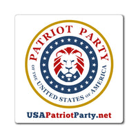 USA Patriot Party magnet 3 sizes