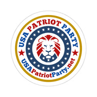 Patriot Party Round Stickers, 4 sizes