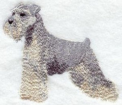 Schnauzer Custom Machine Embroidered Ladies Tshirt
