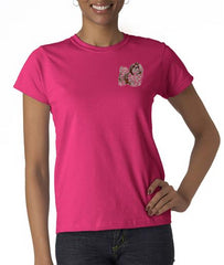 Shih Tzu Custom Machine Embroidered Ladies Tshirt