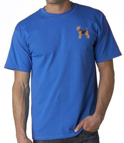 Airedale Custom Machine Embroidered Mens Tshirt