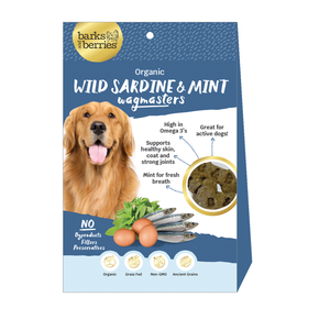 Organic Dog Treats - Wild Caught Sardine and Mint Wagmasters  Edit alt text