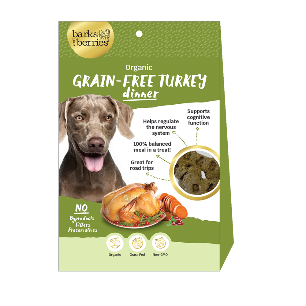 Organic Dog Treats - Grain Free Turkey Dinner