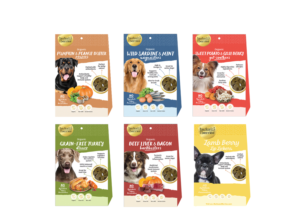 Load image into Gallery viewer, Organic Dog Treats Sampler Pack - 6 Dozen Organic Dog Treats  Edit alt text