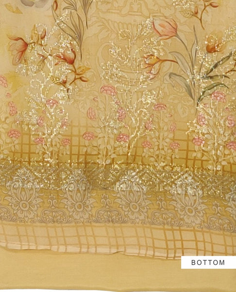 Yellow Georgette Suit Fabric Set
