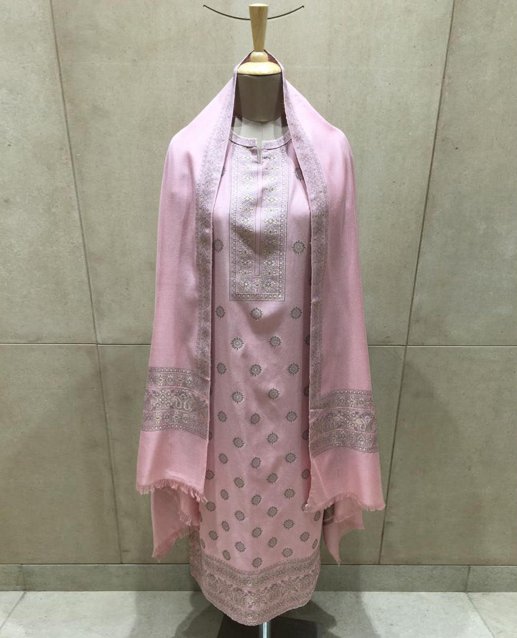 Mauve Cotton Modal Woven Unstitched Suit Fabric Set