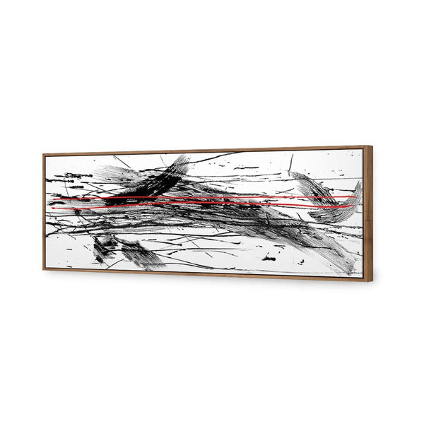Brushstrokes with Enhanced Red (Long) Canvas Art