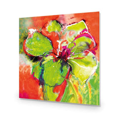 Abstract Hyacinth, Fluoro Green with Enhanced black, white and red