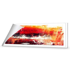 Fire, Red (Long) with Enhanced black, red and white Canvas Art