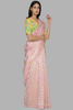 Light Pink Comb And Sparkle Sari Set