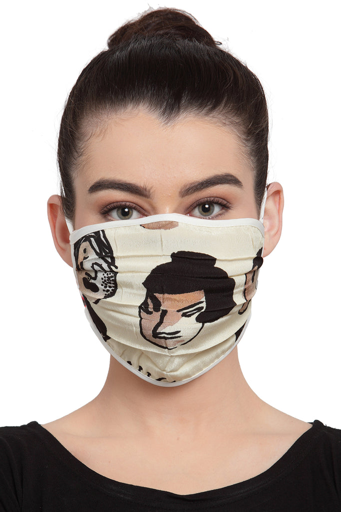 Reusable Unisex Mask - Faces Print
