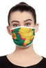 Reusable Unisex Mask - Basil Crayon Flowers  Print