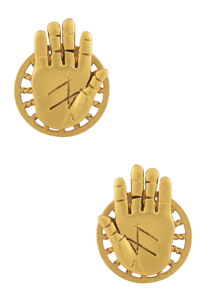 Gold Plated Palm Stud
