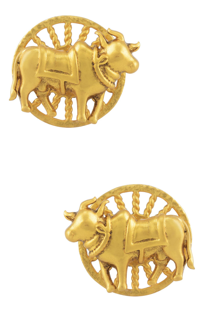 Gold Plated Holy Cow Stud