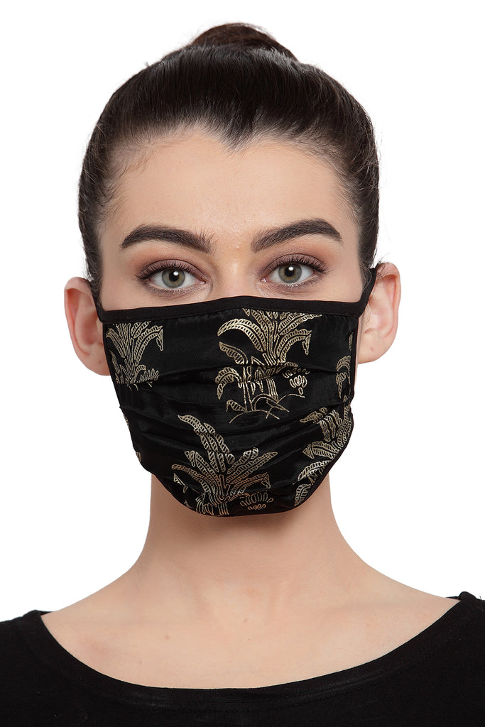 Reusable Unisex Face Mask - Black Printed Mask