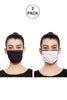 Reusable Unisex Face Mask- Pack of 2 -  Midnight  Ivory