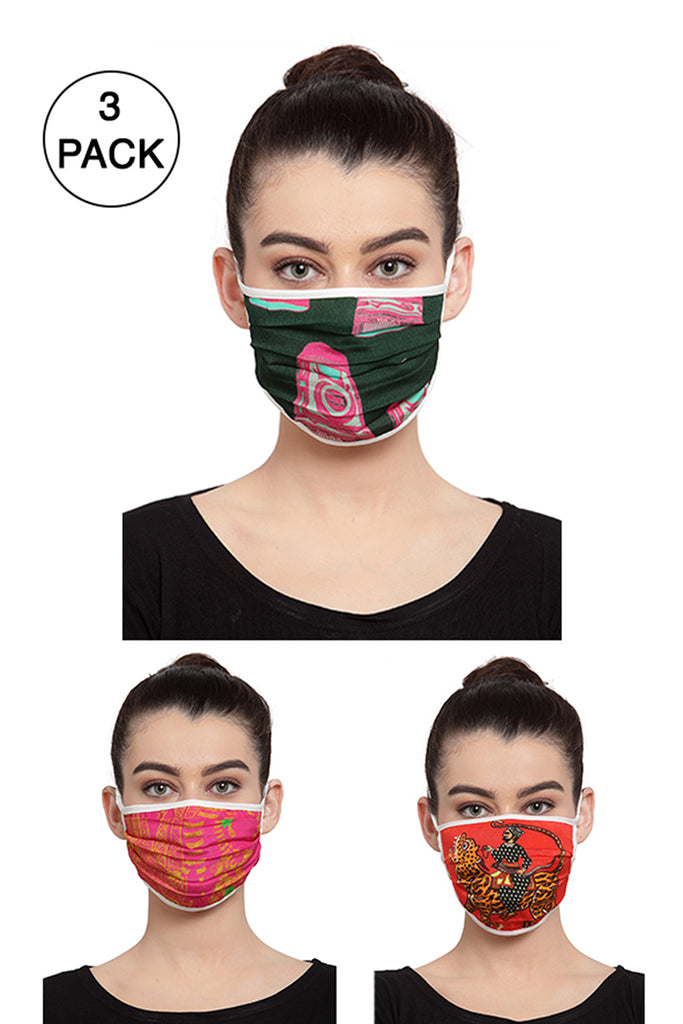 Reusable Unisex Face Mask- Pack of 3