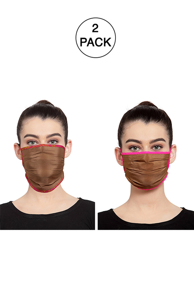 Reusable Unisex Face Mask- Pack of 2 -  Nude