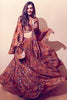 Brown Lost Letters Print Lehenga Set