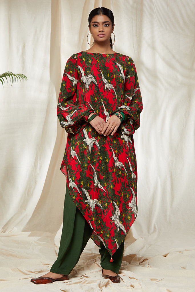 Fire Of Forest Salwar Set