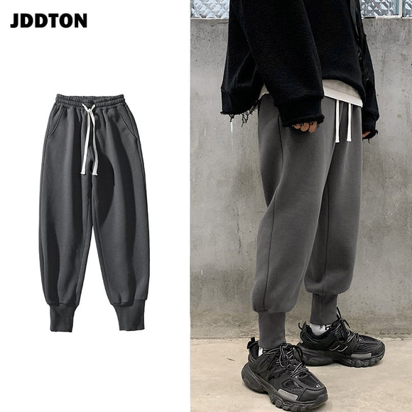 JDDTON Spring Men's Beam Foot Haram Pants Jogger Sweatpant Casual Hip Hop Ankle Length Streetwear Male Comfortable Trouser JE448