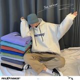 Privathinker 10 Color Men Hooded Hoodies Korean Letter Printed Man Women Oversized Sweatshirts Harajuku Male Casual Tops Clothes