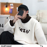 Privathinker Winter Warm Lambswool Hoodies For Men Korean Casual Turtleneck Sweatshirts 2020 Korean Man Oversized Pullover
