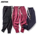 JDDTON New 2020 Men's Summer Linen Harem Solid Pants Jogger Casual Loose Male Long Small Foot Pants Fashion Style Trousers JE040