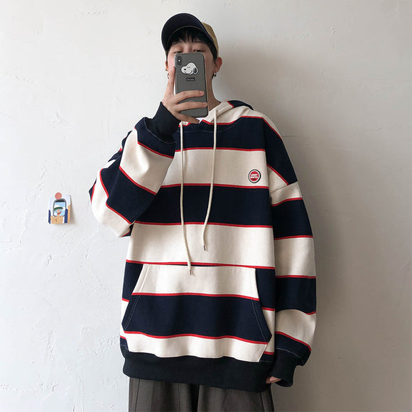 Privathinker Autumn Striped Men Hoodies 2020 Streetwear Man Oversized Hooded Sweatshirts 4 Colors Hip Hop Male Casual Pullovers