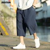 JDDTON 2020 New Men's Summer Linen Streetwear Solid Harem Pants Joggers Loose Fashion Style Sweatpants Casual Solid Male JE044