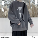 Privathinker Hand Printed Korean Streetwear Sweatshirts Men Oversize Casual Hoodies 2020 Autumn Winter New Men's Warm Clothing