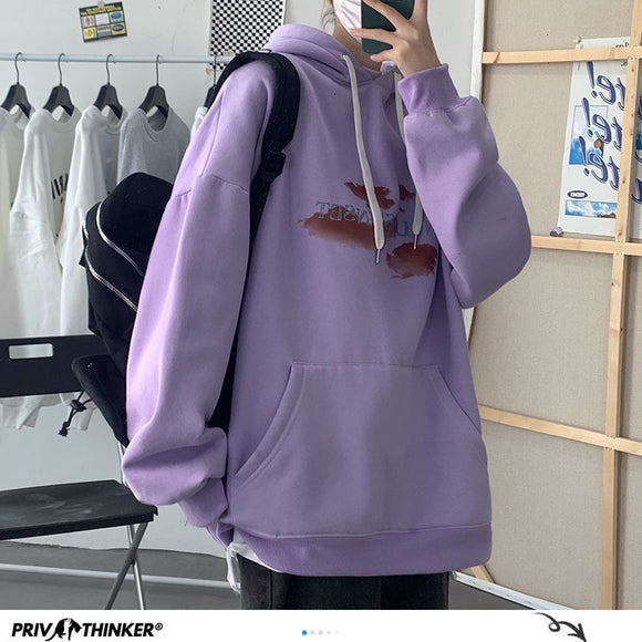 Privathinker Men's Casual Oversize Hoodies 2020 Autumn Winter New Hooded Sweatshirts Loose Pullover Graphic Printed Clothing