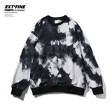 Privathinker Hip Hop Streetwear Men's Tie Dye Sweatshirts Autumn Winter Men Baggy Hoodies BTS Kpop Hoodies Man Clothes